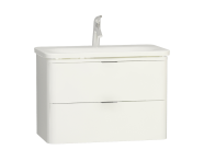 56441 - Nest Trendy 2 Drawer Washbasin Unit 80 cm White