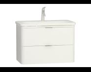 56441 - Nest Trendy Lavabo dolabı, 2 çekmeceli, 80 cm, Parlak Beyaz