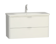 56442 - Nest Trendy 2 Drawer Washbasin Unit 100 cm White