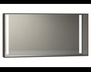 56476 - Memoria Aydınlatmalı Ayna, 120 cm,  Mat Ceviz