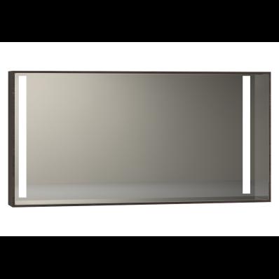 Memoria Aydınlatmalı Ayna, 120 cm,  Mat Ceviz
