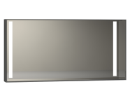 56477 - Memoria Illuminated Mirror, 120 cm, Grey High Gloss