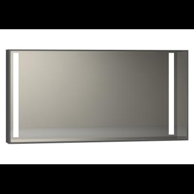 Memoria Aydınlatmalı Ayna, 120 cm,  Parlak Gri