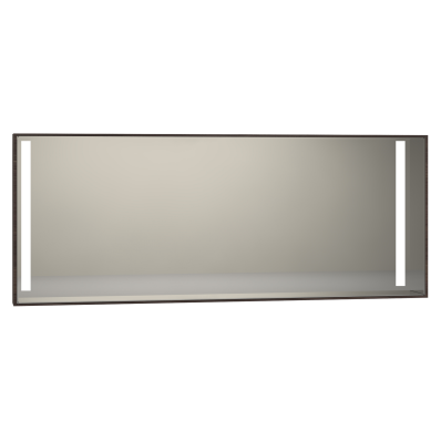 Memoria Aydınlatmalı Ayna, 150 cm,  Mat Ceviz
