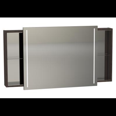 Memoria Illuminated Mirror Cabinet, with Sliding Door, 120 cm, Chestnut