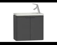 56511 - Nest Trendy Narrow Washbasin Unit, without Basin, 60 cm, High Gloss White