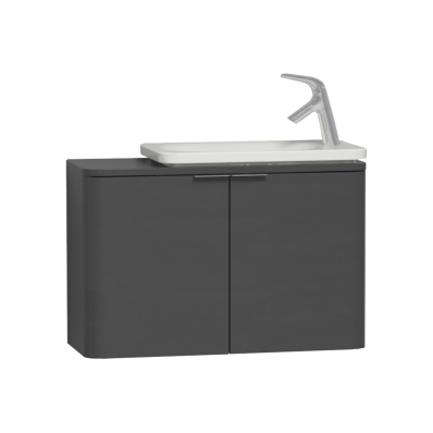 Nest Trendy Narrow Washbasin Unit, without Basin, 80 cm, Anthracite