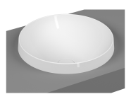 5651B401-0016 - Frame Tezgah Üstü Yuvarlak Lavabo, Mat Beyaz