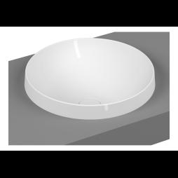 description frame round countertop washbasin matte white code 5651b401 0016 vitraclean yes. Black Bedroom Furniture Sets. Home Design Ideas
