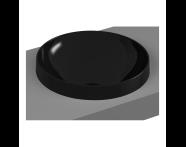 5651B470-0016 - Frame Tezgah Üstü Yuvarlak Lavabo, Siyah