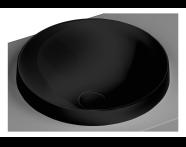 5651B483-0016 - Frame Tezgah Üstü Yuvarlak Lavabo, Mat Siyah