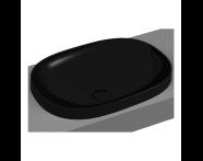 5652B470-0016 - Frame Tezgah Üstü Oval Lavabo, Siyah