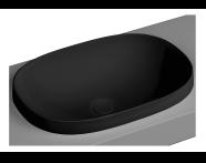 5652B483-0016 - Frame Tezgah Üstü Oval Lavabo, Mat Siyah