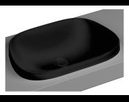 5653B483-0016 - Frame Tezgah Üstü Tv Lavabo, Mat Siyah