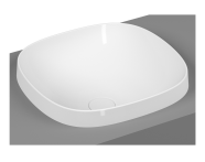 5654B403-0016 - Frame Tezgah Üstü Kare Lavabo, Beyaz