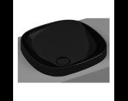 5654B470-0016 - Frame Tezgah Üstü Kare Lavabo, Siyah