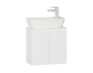 56561 - Shift+ Washbasin Unit, Including Washbasin, 50x35x34 cm, High Gloss White