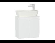 56561 - Shift+ 50 cm Washbasin Unit Acrylic White