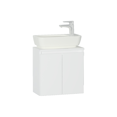 Shift+ Washbasin Unit, Including Washbasin, 50x35x34 cm, High Gloss White