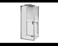 56580001000 - Notte Compact Shower Unit 90x90 cm, Flat Wall, with Door, Matte Grey