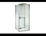 56580105000 - Notte Compact Shower Unit 90x90 cm Left, L Wall, with Door, Matte Grey