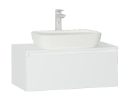56610 - Shift+ Washbasin Unit, 80x45x34 cm, High Gloss White