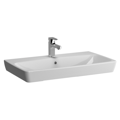 M-Line Washbasin, No Overflow Hole, 80 cm