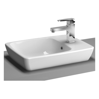 M-Line Countertop Washbasin, No Overflow Hole, 50x38 cm