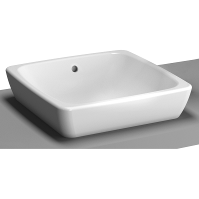 M-Line Countertop Washbasin, No Overflow Hole, 40 cm