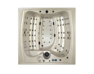 56700001383 - Well-Joy Spa - 220x220 cm 6  Seat, White