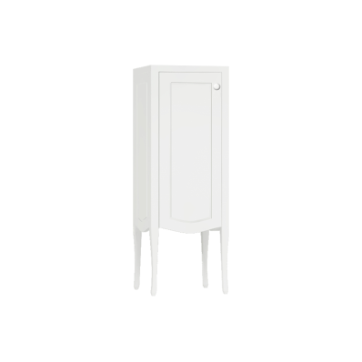 Elegance Mid Unit, Matte White, Left