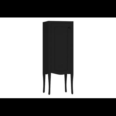 Elegance Orta boy dolabı, 40 cm, Mat Siyah, siyah seramik kulplu, sol