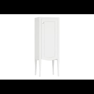 Elegance Orta boy dolabı, 40 cm, Mat Beyaz, beyaz seramik kulplu, sağ