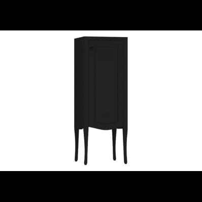 Elegance Orta boy dolabı, 40 cm, Mat Siyah, siyah seramik kulplu, sağ
