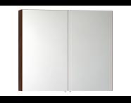 56745 - Mirror Cabinet, Classic, 80 cm, Walnut