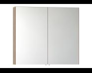 56753 - Mirror Cabinet, Classic, 100 cm, Oak