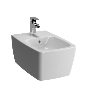 Metropole Wall-Hung Bidet without Side Holes, with Single Tap Hol