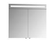 56770 - Mirror Cabinet, Elite, 80 cm, White High Gloss
