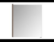56803 - Mirror Cabinet, Premium, 60 cm, Grey Oak Left