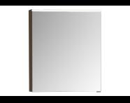 56804 - Mirror Cabinet, Premium, 60 cm, Waved Natural Wood Left