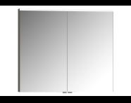 56812 - Mirror Cabinet, Premium, 80 cm, Light Fume