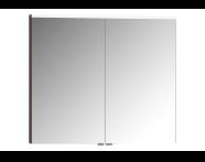 56819 - Mirror Cabinet, Premium, 80 cm, Dark Oak