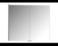 56821 - Mirror Cabinet, Premium, 80 cm, Metallic Mink