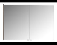 56829 - Mirror Cabinet, Premium, 100 cm, Grey Oak