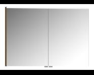 56830 - Mirror Cabinet, Premium, 100 cm, Waved Natural Wood