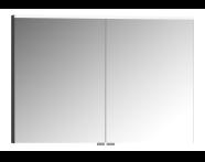 56835 - Mirror Cabinet, Premium, 100 cm, Anthracite High Gloss