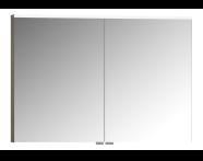 56837 - Mirror Cabinet, Premium, 100 cm, Grey Birch High Gloss