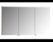 56842 - Mirror Cabinet, Premium, 120 cm, Grey Oak