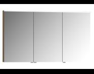 56843 - Mirror Cabinet, Premium, 120 cm, Waved Natural Wood