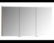 56847 - Mirror Cabinet, Premium, 120 cm, Metallic Mink